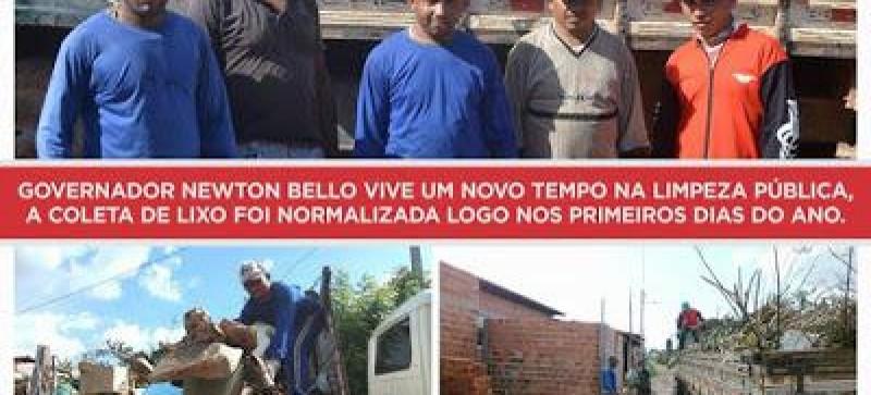 PREFEITURA DE NEWTON BELLO NA NOVA GESTÃO ROBERTO DO POSTO REALIZA OPERAÇÃO CIDADE LIMPA