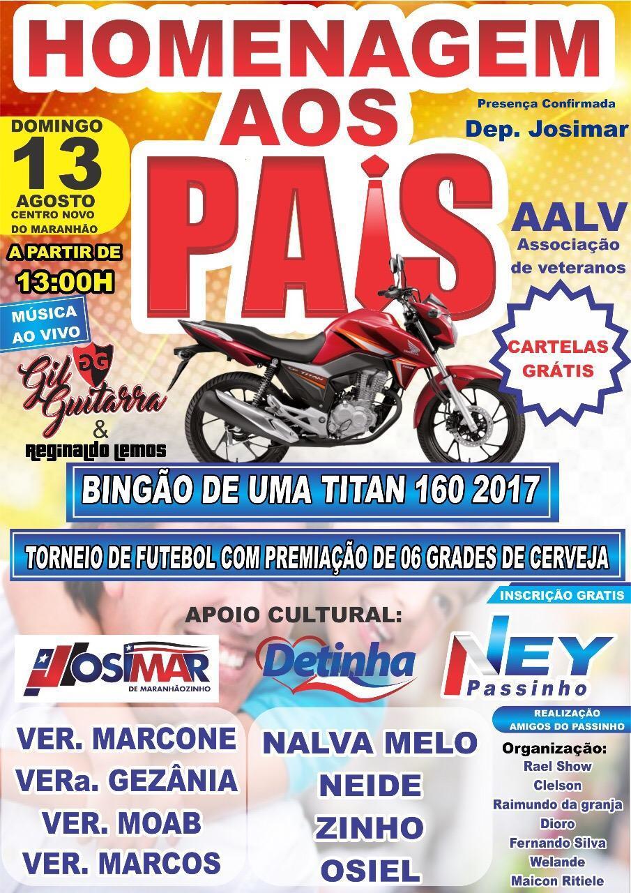 Enquanto a gestão cruza os braços, Ney Passinho vai presentear os papais de Centro Novo do Maranhão