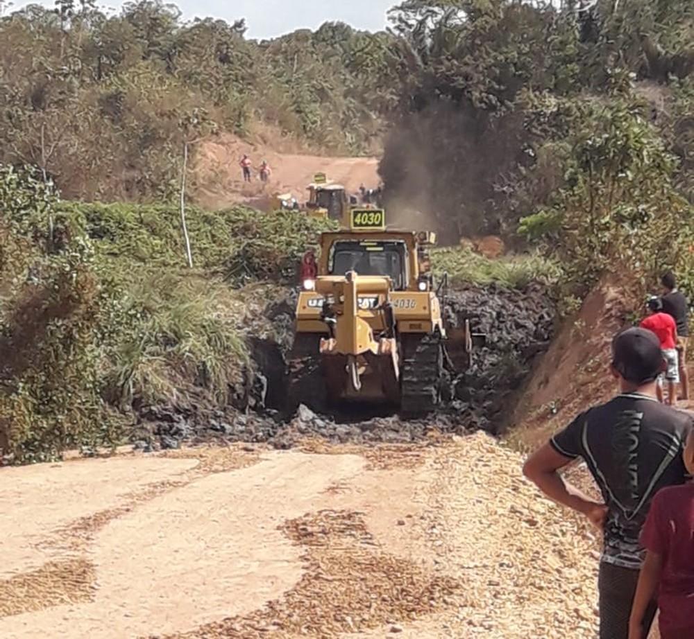 Deslizamento de dejetos em mineradora isola comunidade no Maranhão