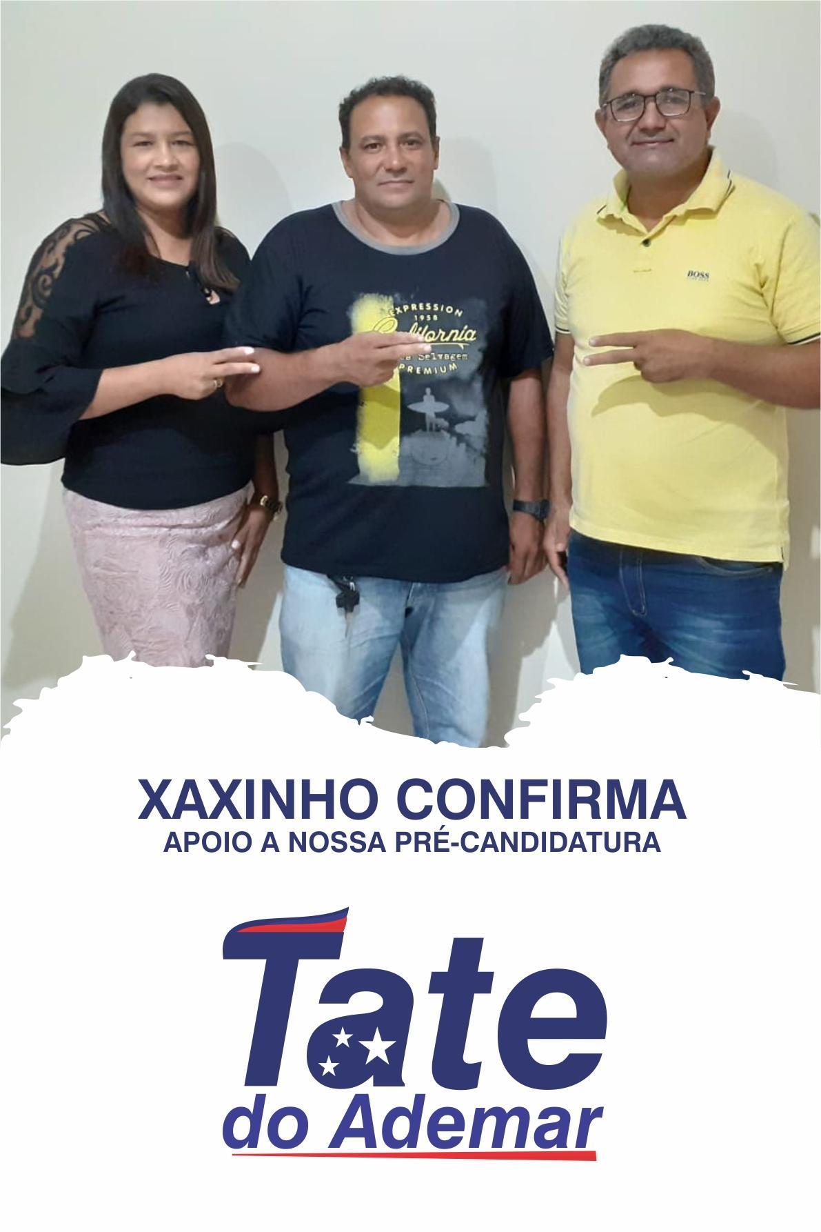 Xaxinho declara apoio à reeleição de Tate do Ademar
